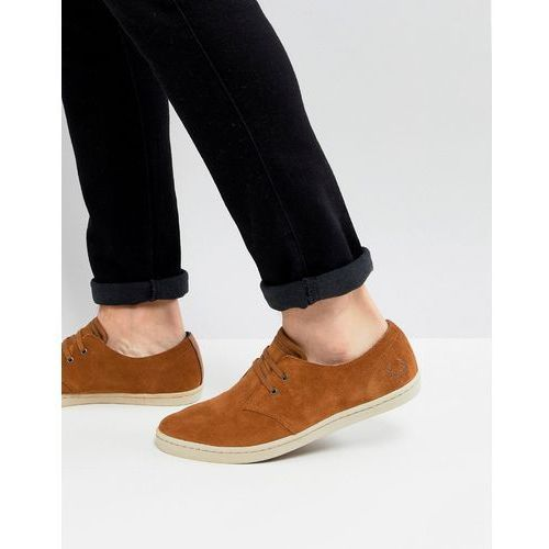 byron low suede shoes in tan - tan, Fred perry
