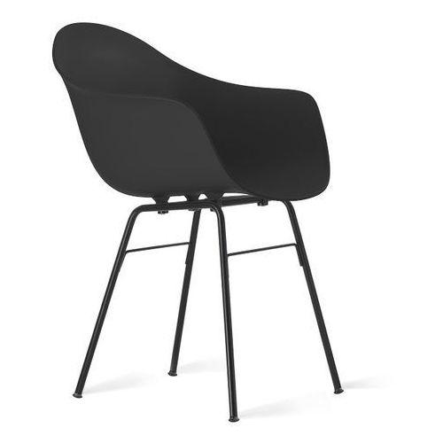 Kubikoff :: fotel ta z podstawą metalową czarną - kolor do wyboru