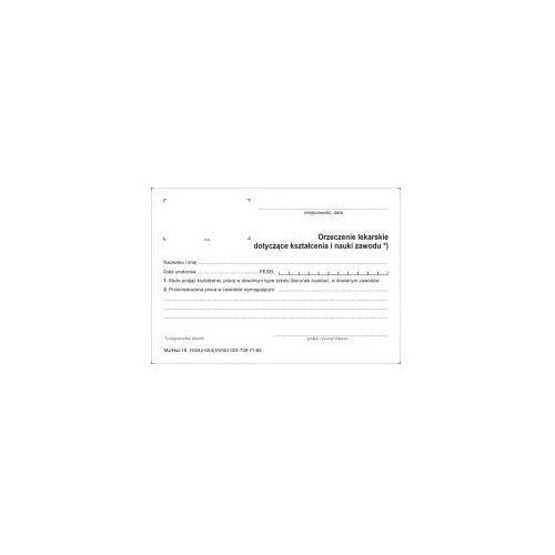 Orzeczenie lakarskie dotyczące kształcenia i nauki zawodu [mz/hsz-18] marki Firma krajewski