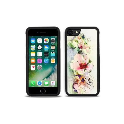 Apple iphone 7 - etui na telefon aluminum fantastic - róże herbaciane marki Etuo aluminum fantastic