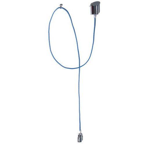 Lampa wisząca single 10366112 dekoracyjna oprawa metalowa retro żarówka bulb kabel przewód niebieski marki Kaspa