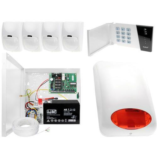System alarmowy: płyta główna ca-4 vp + manipulator ca-4 vkled + 4x czujnik ruchu + akcesoria marki Satel set