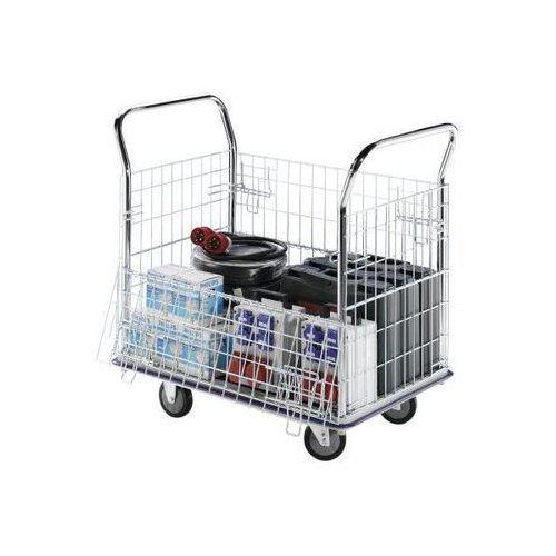 Wózek kratowy, ocynkowane kraty boczne, z pałąkami ze stali szlachetnej, nośność