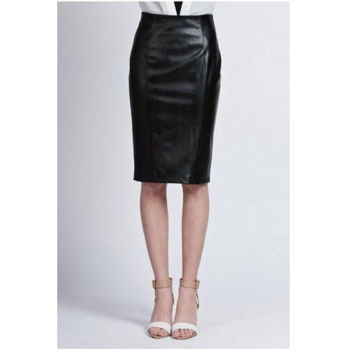 Spódnica Model SP 101 Skóra Black, kolor czarny