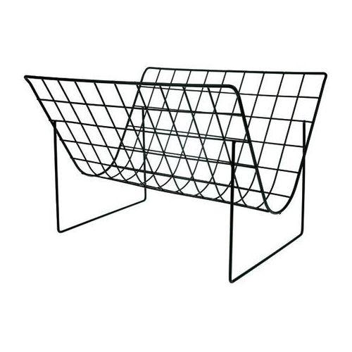 Hk living stojak na czasopisma metalowy czarny mat aha5504