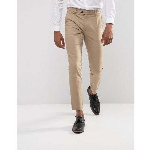 Burton Menswear Skinny Fit Smart Chinos In Stone - Stone