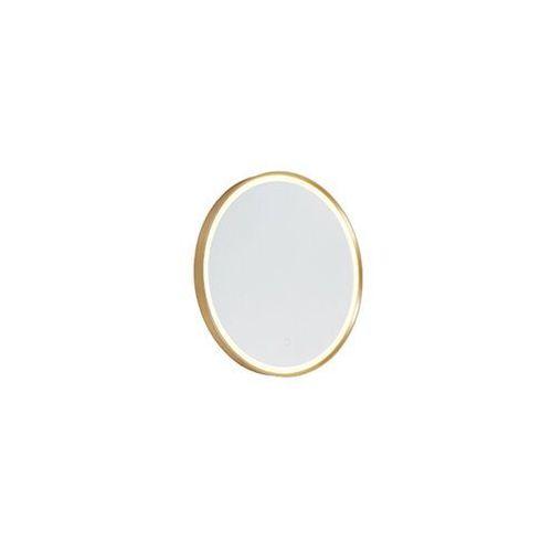 Okrągłe lustro łazienkowe w kolorze złotym z LED ze ściemniaczem dotykowym - Miral
