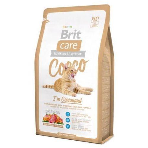 Brit  care cat cat cocco i'm gourmand  wybrednych kaczka+łosoś op.400g-7kg