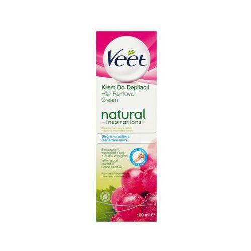 Veet 100ml natural inspirations skóra wrażliwa krem do depilacji marki Reckitt benckiser