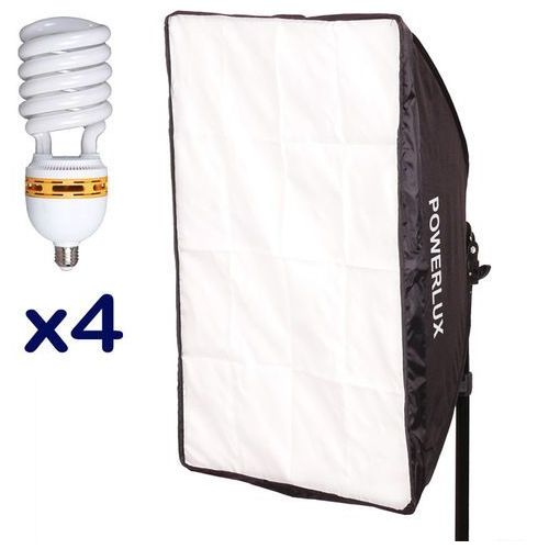 Powerlux RC-574 z softboxem 50x70 cm + 4x30 W 6500K