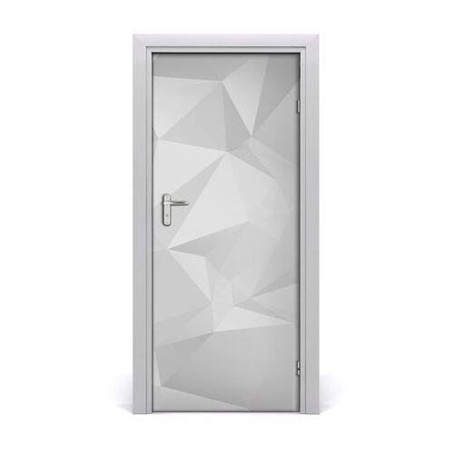 Naklejka samoprzylepna na drzwi abstrakcja trójkąty marki Tulup.pl