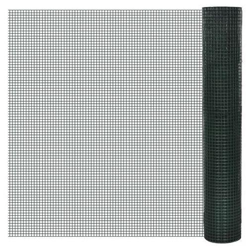 siatka ogrodzeniowa ocynkowana z tworzywa pcv 1m x 10m oczko 12x12mm marki Vidaxl