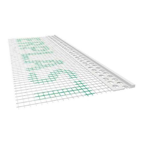 Emaga Listwa pcv zakończeniowa odcinająca z siatką a=100mm b=10mm l=2mb - pakiet 50szt.