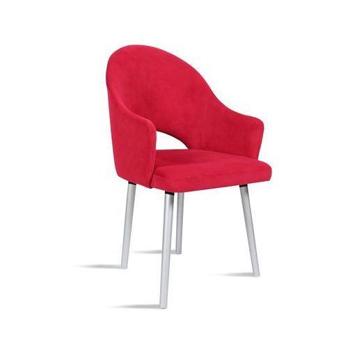 Krzesło BARI czerwony / noga silver / TR9, kolor czerwony