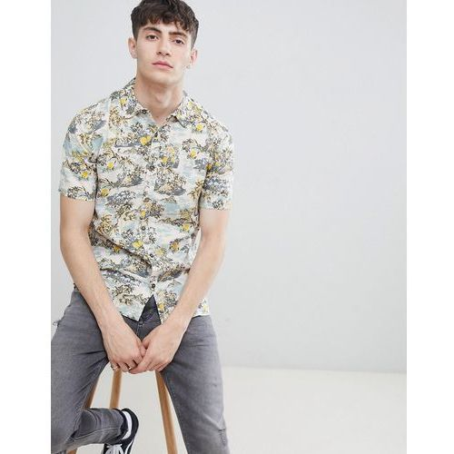 tropical print short sleeve shirt - pink marki D-struct