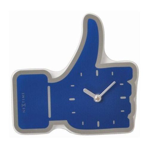 Nextime Zegar stołowy mini thumbs up niebieski (5185 bl) (8717713010340)