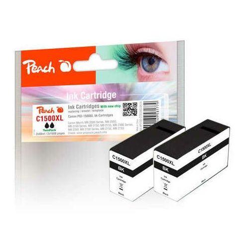 twink pack xl ink cartridge black, kompatybilny z pgi-1500, pgi-1500bk xl marki Peach