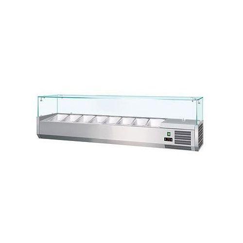 Nadstawka chłodnicza z szybą prostą | GN 1|4 x 7