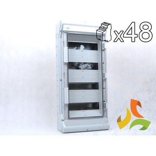 Rozdzielnica, rozdzielnia elektryczna 48-mod. VECTOR II IP65 hermetyczna VE412L HAGER, VE412L/HAG