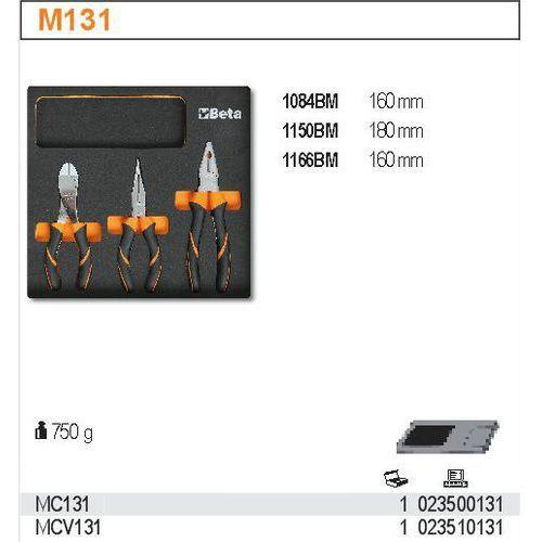 Beta Zestaw narzędzi, 3 elementy, w miękkim wkładzie profilowanym, model 2350/mc131