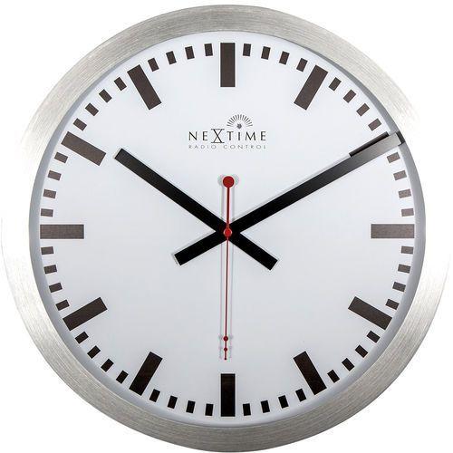 Zegar ścienny ze sterowaniem radiowym station 35 cm (3999 strc) marki Nextime