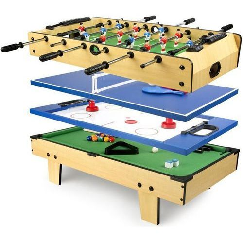 Krakpol Stół do gier 4w1 mini: piłkarzyki bilard tenis hokej
