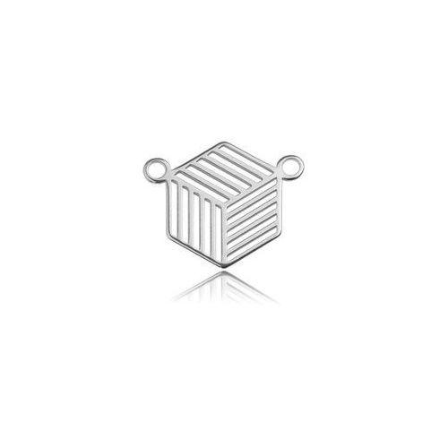 Łącznik geometryczny - ażurowy, srebro próba 925 bl 268 wyprodukowany przez 925.pl