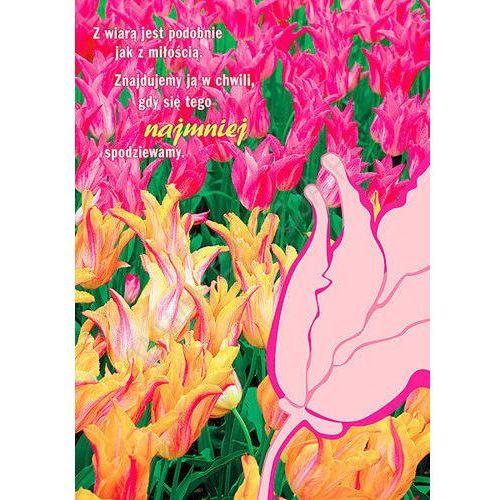 Edycja św. pawła Kartka tulipan - z wiarą i z miłością