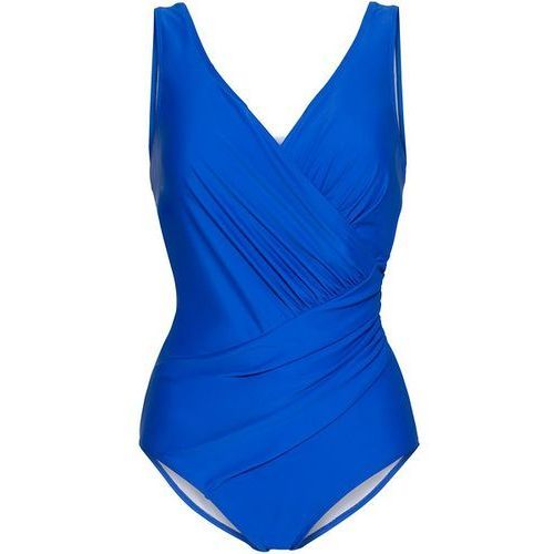 Kostium kąpielowy modelujący sylwetkę  błękit królewski, Bonprix, S-XXXXL