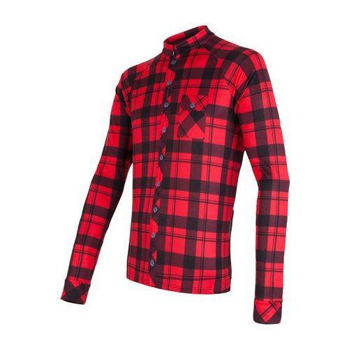 Sensor koszulka rowerowa dres square black/red xl