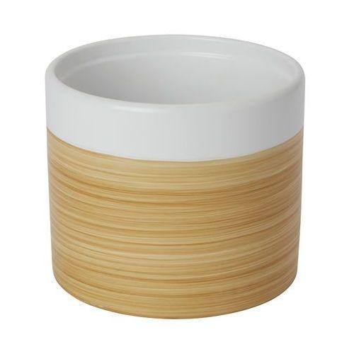 Doniczka ceramiczna GoodHome ozdobna 14 cm efekt drewna, C33