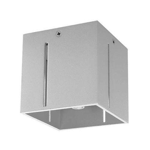 LAMPA sufitowa SOL SL.399 kwadratowa OPRAWA kostka metalowa cube szara (5902622428987)