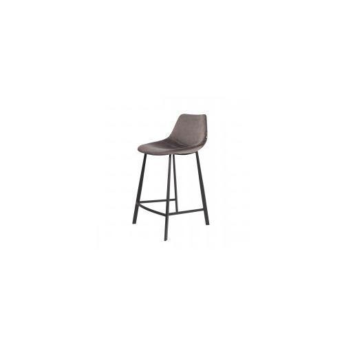 Dutchbone Krzesło barowe franky velvet szare -