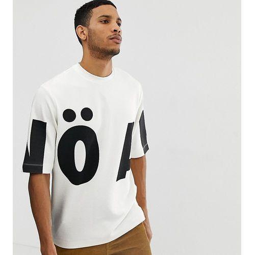 oversized boxy t-shirt with oversized logo in white - white, Noak, XS-XL