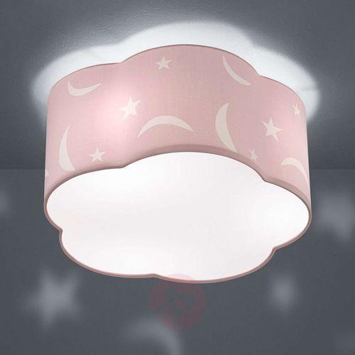 Trio leuchten Lampa sufitowa moony, dziecięca, pastelowy róż