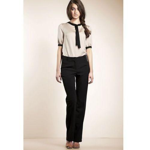 Czarne Klasyczne Eleganckie Spodnie, NSD04bl