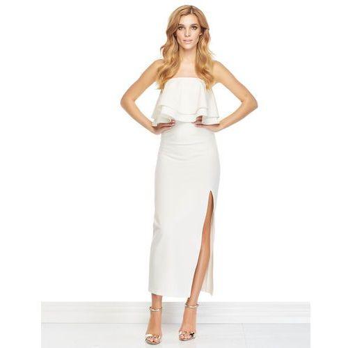 Sukienka Bella w kolorze kremowym