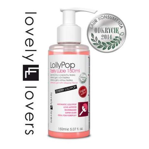 LovelyLovers LollyPop Tasty Lube - smakowity żel oralny o aromacie wiśniowego lizaka, 7FCE-948E8