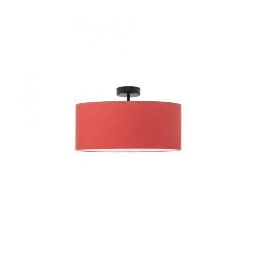 Nowoczesne oświetlenie sufitowe WENECJA fi - 30 cm szary (stalowy), chrom, bez denka, 14527 - KOLOR CZERWONY