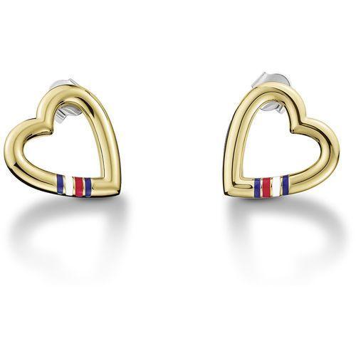 Tommy Hilfiger Złoto w kształcie serca kolczyki ze stali TH2700910 (7613272234597)