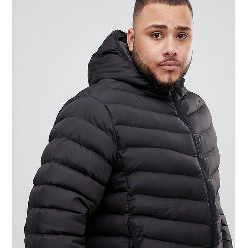 Duke King Size puffer jacket with hood - Black, kolor czarny