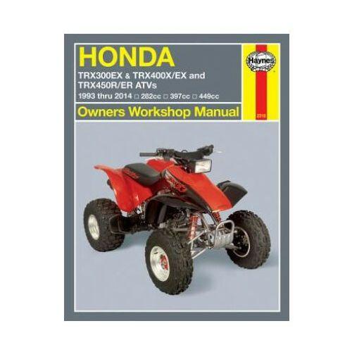 Honda TRX300Ex, TRX400X/Ex, TRX450R/Er ATVs (93 - 14) (9781620921104)