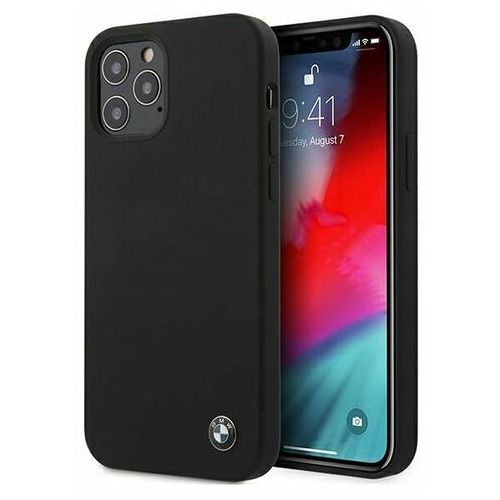 "Bmw Etui bmhcp12lsilbk iphone 12 pro max 6,7"" czarny/black hardcase silicone signature"
