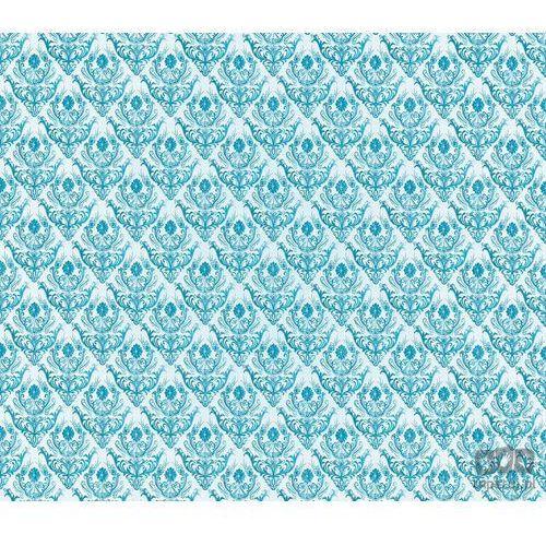 Fototapeta tradycyjne kwiatowe wzory – niebieskie na białym tle 1457 marki Consalnet