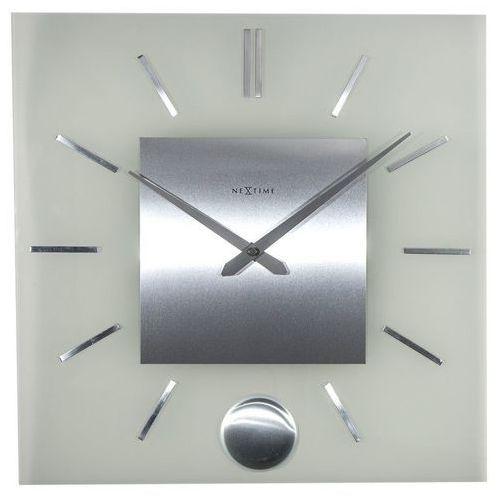 Nextime - zegar ścienny stripe pendulum square