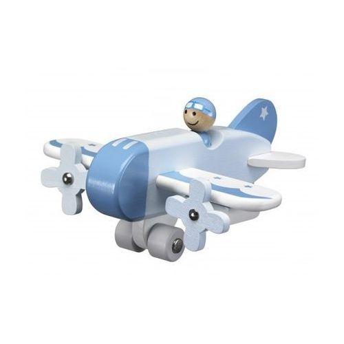 Kids Concept Drewniany Samolot Niebieski
