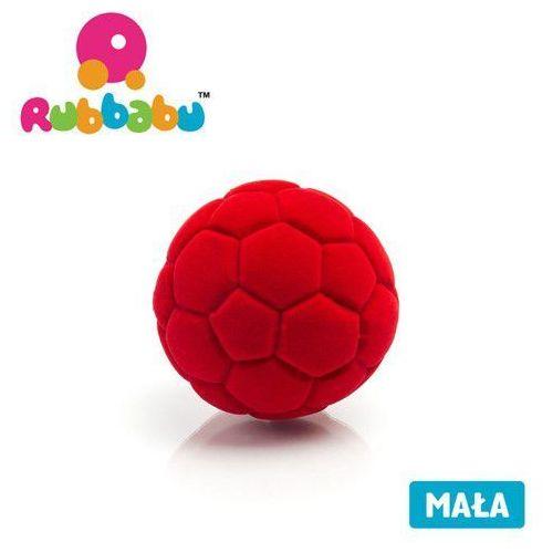 Mała sensoryczna piłka futbolowa - czerwona - marki Rubbabu