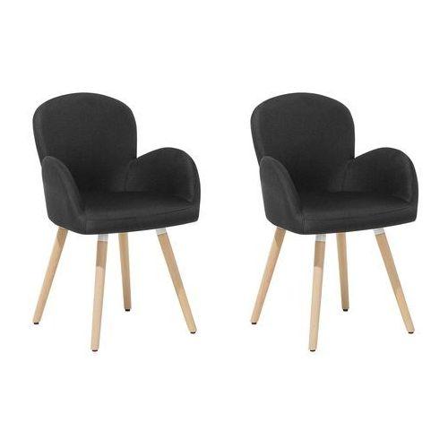 Zestaw do jadalni 2 krzesła czarne BROOKVILLE
