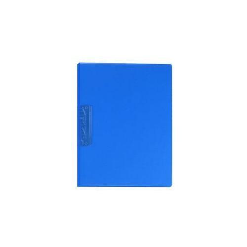 Segregator z dźwignią A4 1,8cm transparentny niebieski Biurfol