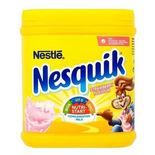 Nesquik truskawkowy z witaminami (anglia) marki Nestle s.a. vevey, switzerland